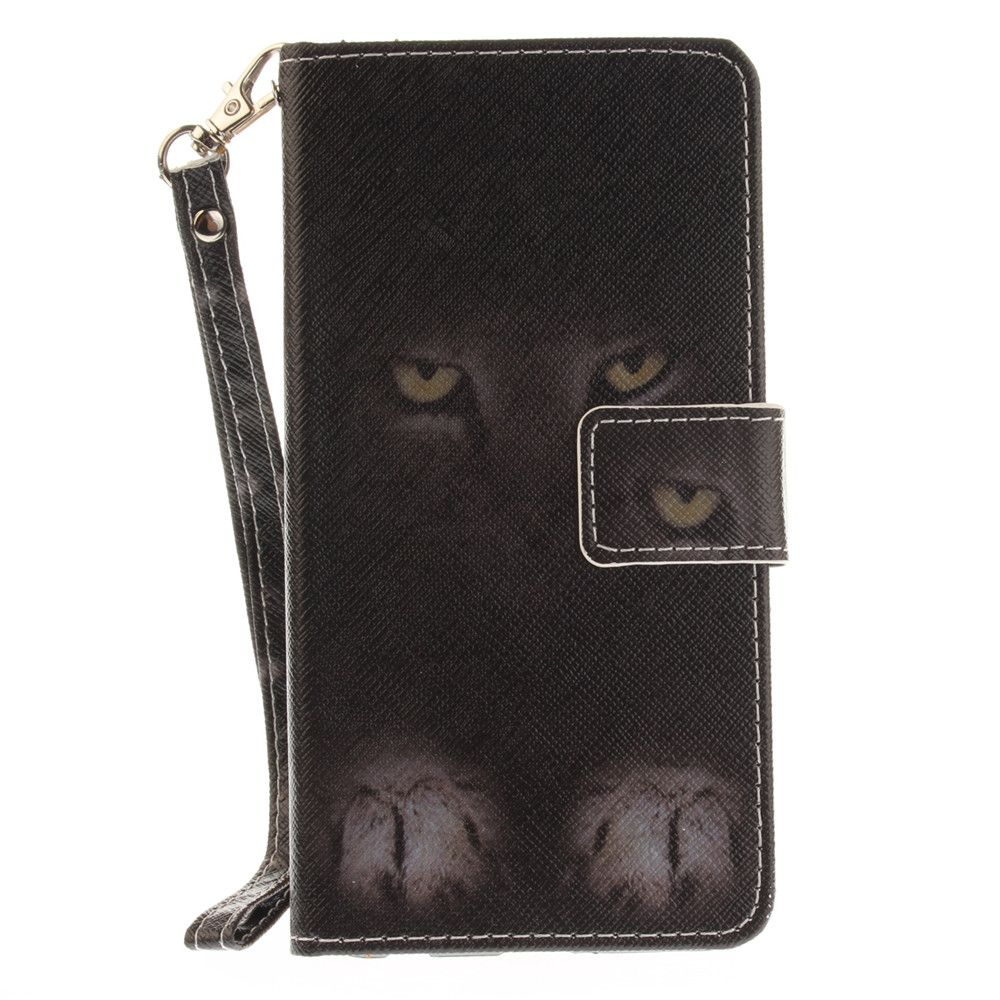 Cover Case for LG Xpower Mystery Cat PU+TPU Leather with Stand and Card Slots Magnetic Closure