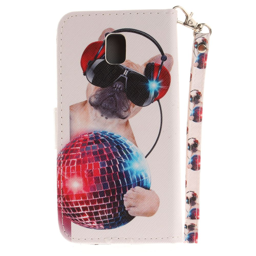Cover Case for Samsung Galaxy J3 2017 J330 Fashion Dog PU+TPU Leather with Stand and Card Slots Magnetic Closure