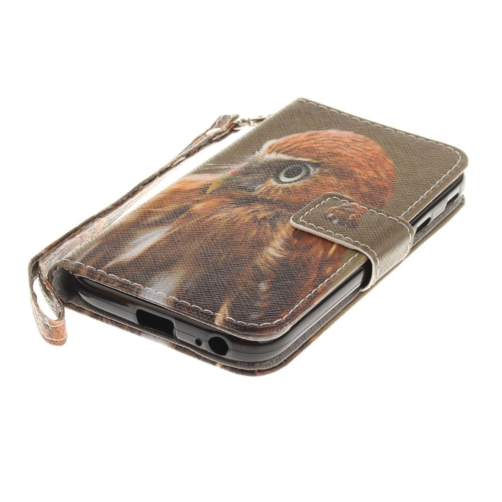 Cover Case for Samsung Galaxy J3 2017 J330 Young Eagles PU+TPU Leather with Stand and Card Slots Magnetic Closure