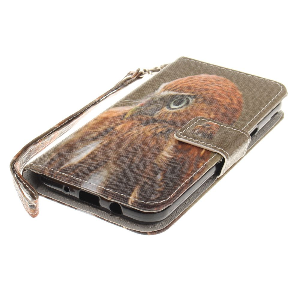 Cover Case for Samsung Galaxy J3 2017 Young Eagles PU+TPU Leather with Stand and Card Slots Magnetic Closure