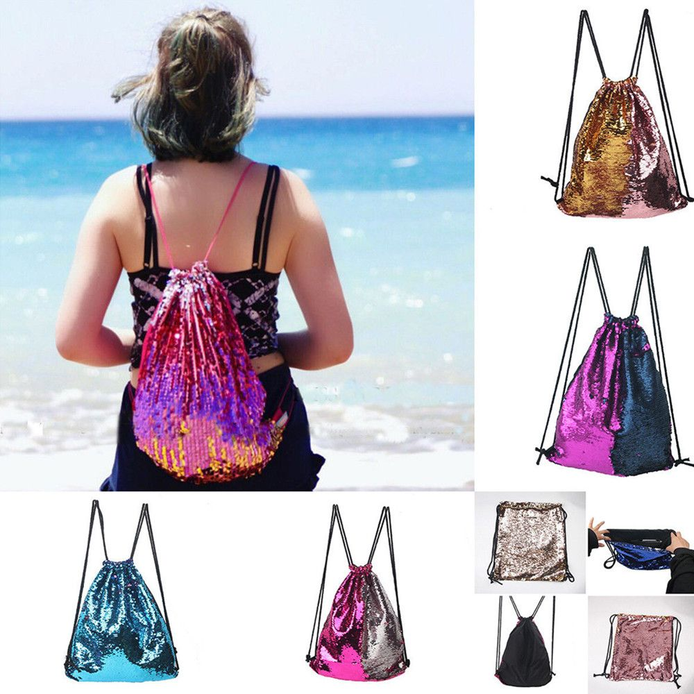 High Quality Drawstring Sports Bag Climbing Hiking Shopping Backpack Trendy