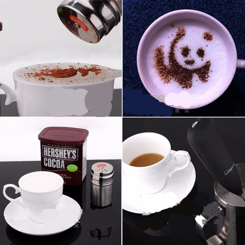 Coffee Pull Flower Mold Coffee Printing Model Powder Pad Latte / Cappuccino 16 with Coffee