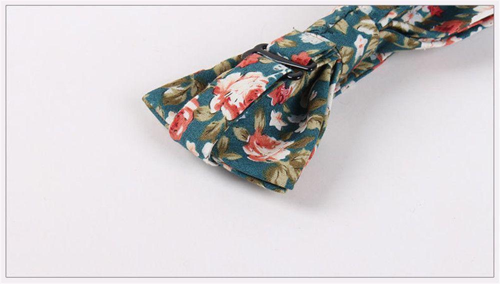 Printed Men'S Leisure Cotton Bow Tie