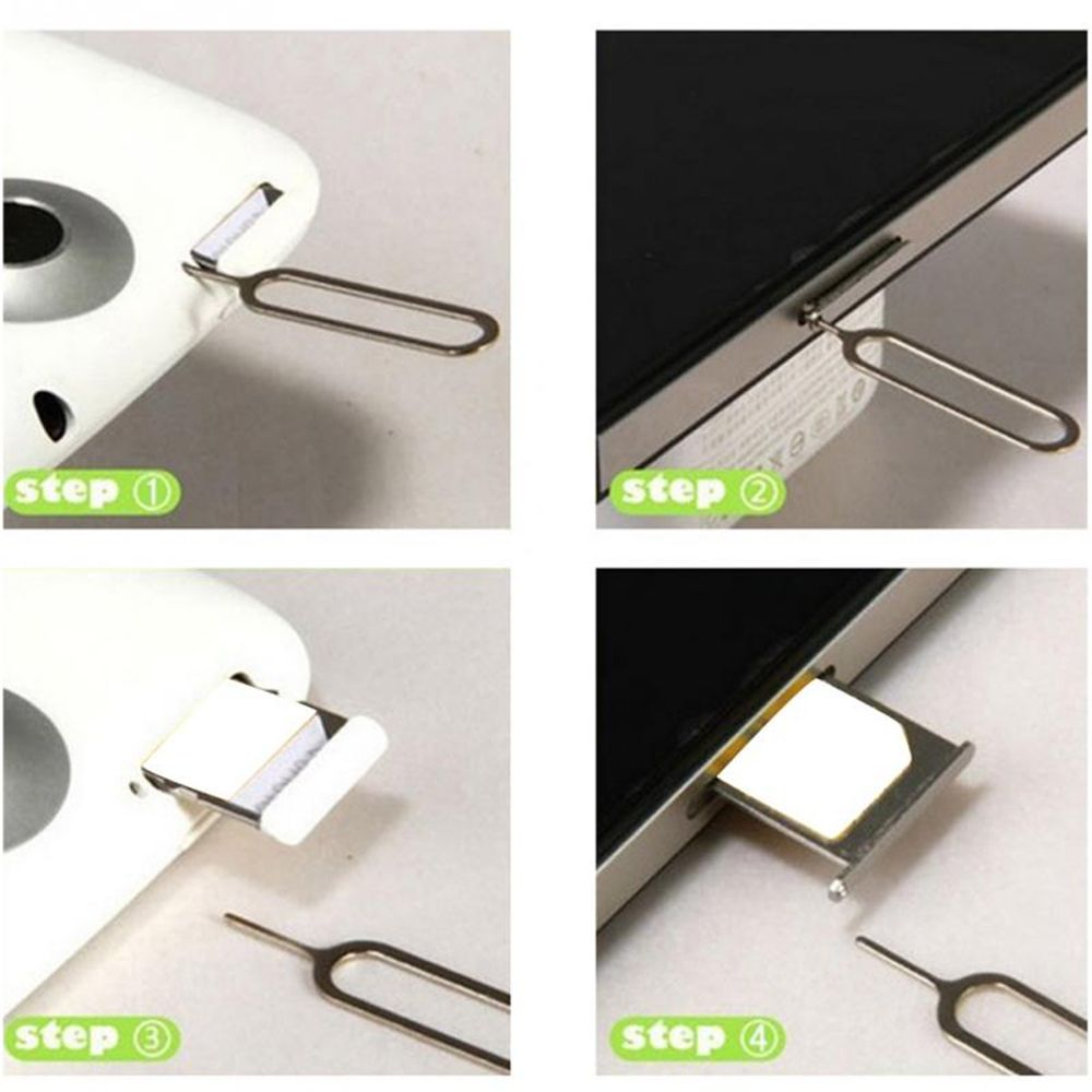 10PCS Universal Metal Sim Card Eject Pin Needle Tray Holder Eject Pin