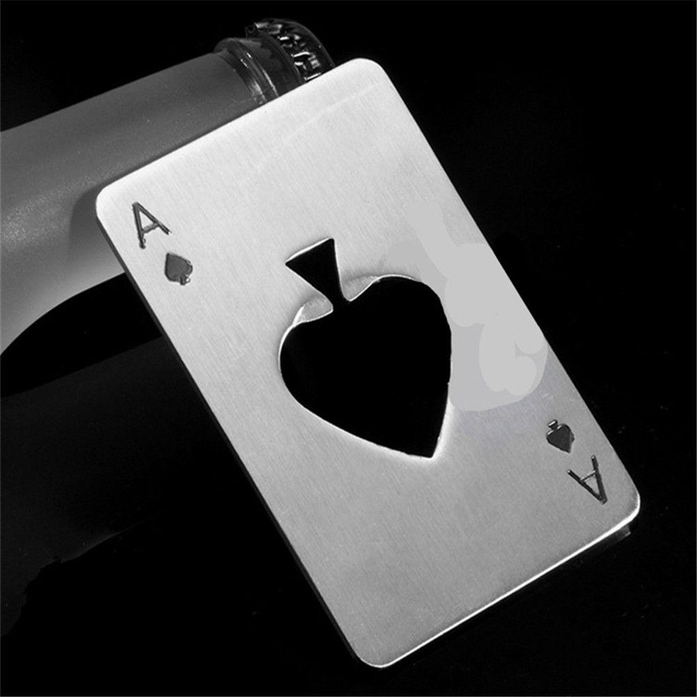 Spade A Poker-Shaped Stainless Steel Bottle Opener