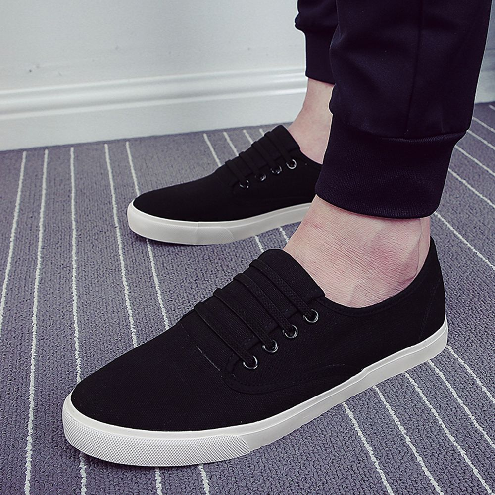 Men's Sneakers Casual Solid Color All Match Classic Canvas Shoes Sports Shoes