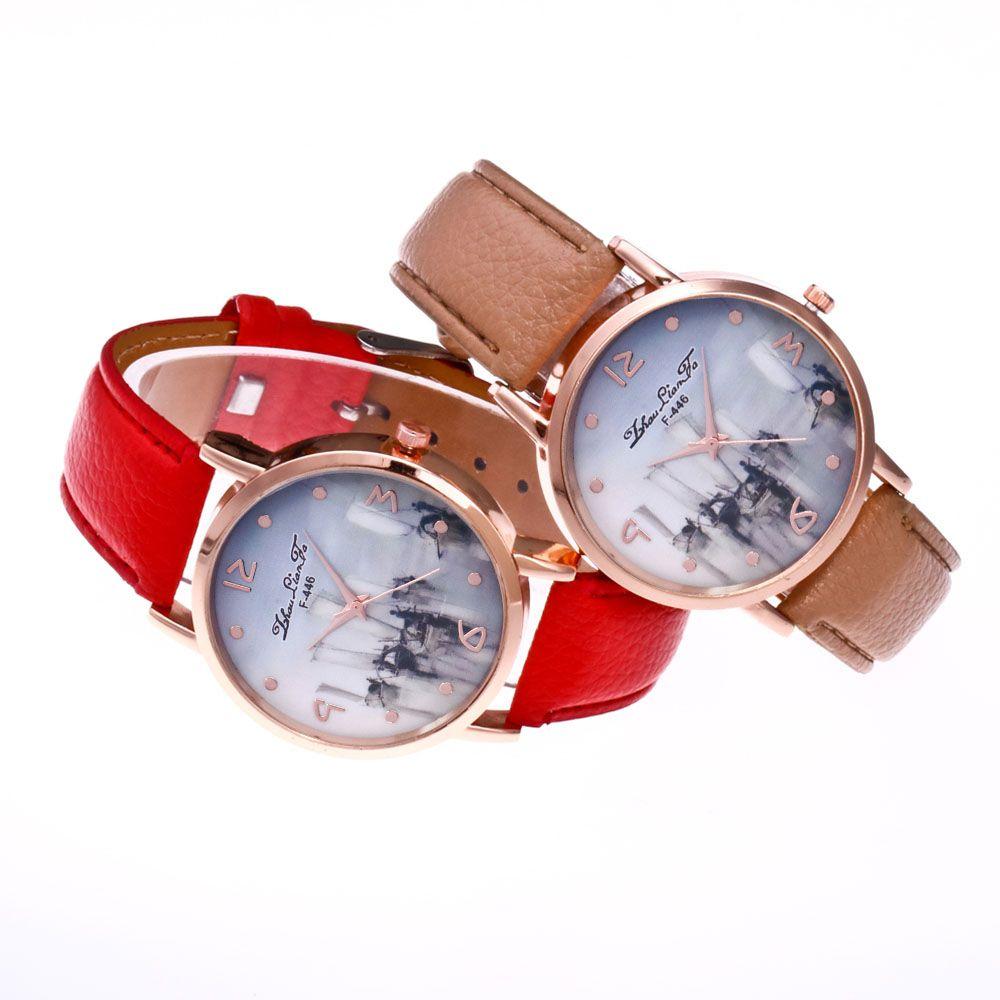 ZhouLianFa New Outdoor High-End Rose Gold Dial Lychee Pattern High-Rise Quartz Watch