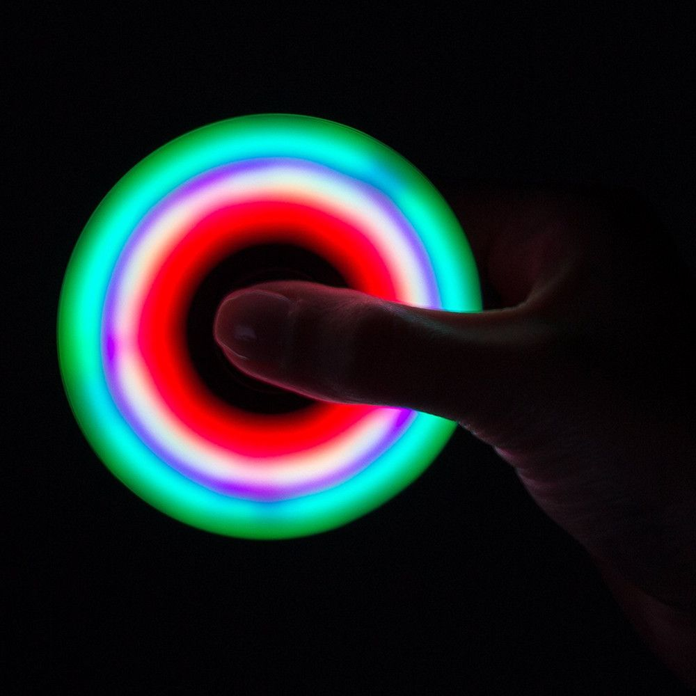Spinner Finger Toy  with LED Light Stress Reducer Relieve Anxiety