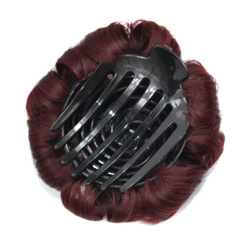 Top Quality Westerners Chignon Big Hair Bun Hair New Style Women Curly Combs Clip In Hair Bun Chignon Updo Cover Hair
