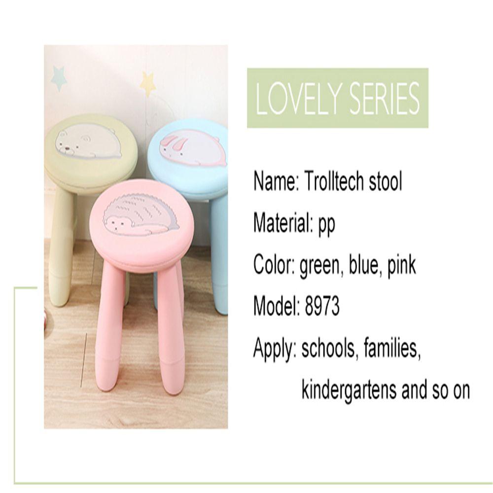 Children stool baby plastic assembly stool lovely kindergarten stool cartoon plastic stool non-slip