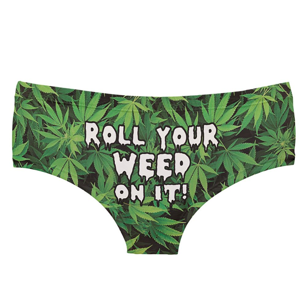 Fashion  Underwear Weed 3D Printing Women Sexy Panties