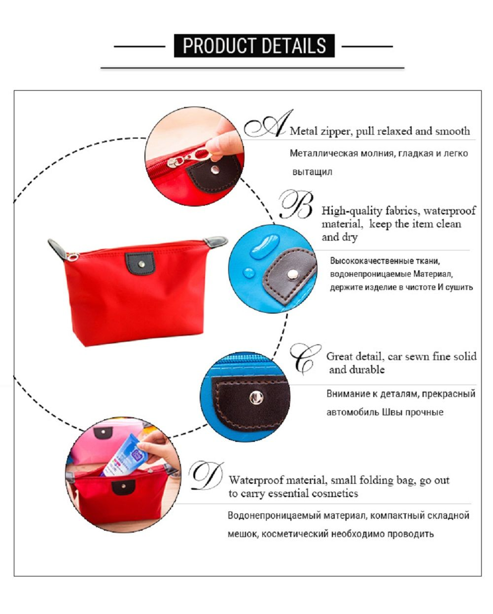 Makeup Organizer Travel Bag Women Cosmetic Bags Summer Dumpling Clutch Women Packages Waterproof Cosmetic Bag Handbag