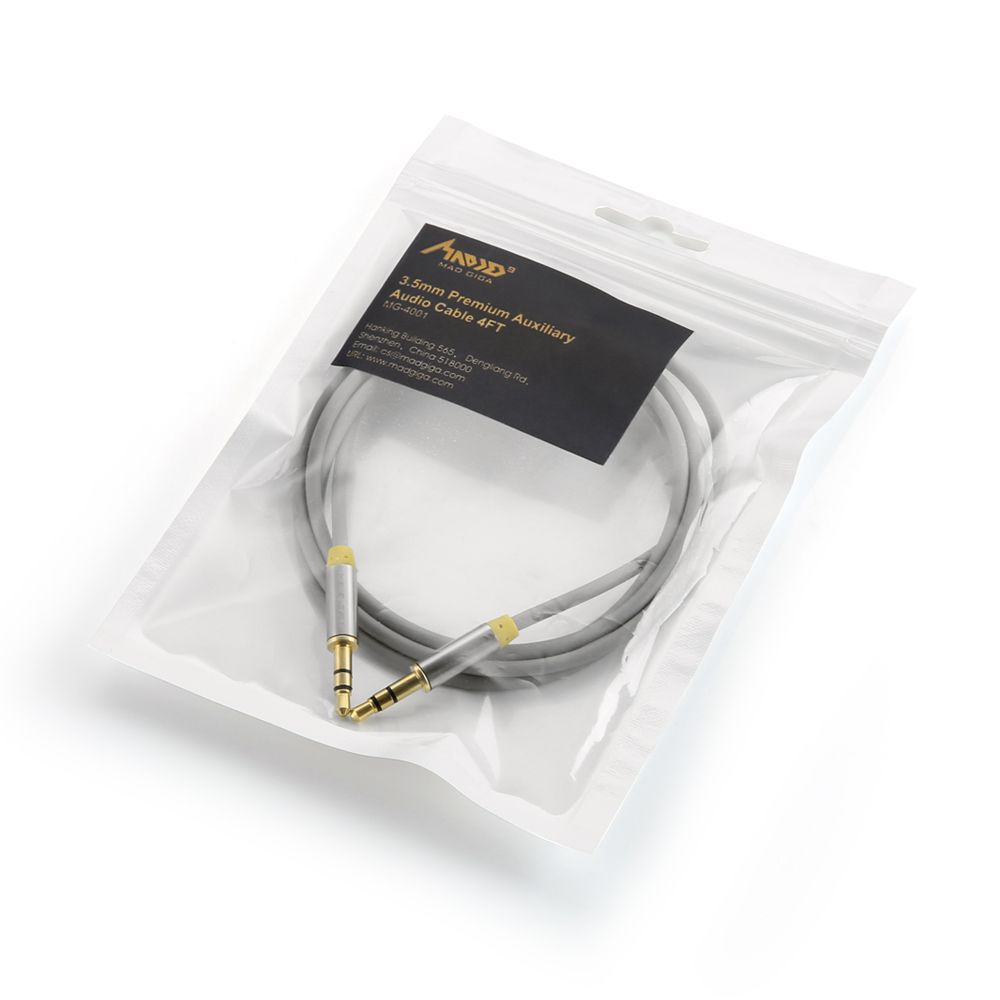 Madgiga Gold Plated 3.5MM Stereo Audio Cable