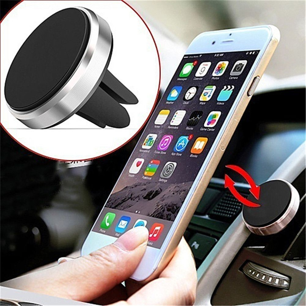 360 Rotation Universal Car Phone Holder Magnetic Air Vent Mount Stand for Mobile Phone