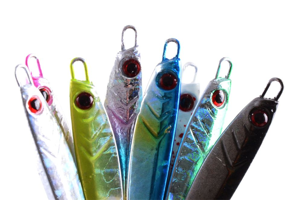 Metal Spoon Fishing Lures Artificial Fake Bait 7G 5CM 5 Pieces