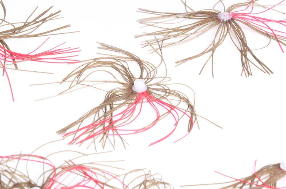 Rubber Threads Skirt Beard Lures 4PCS 8CM Length