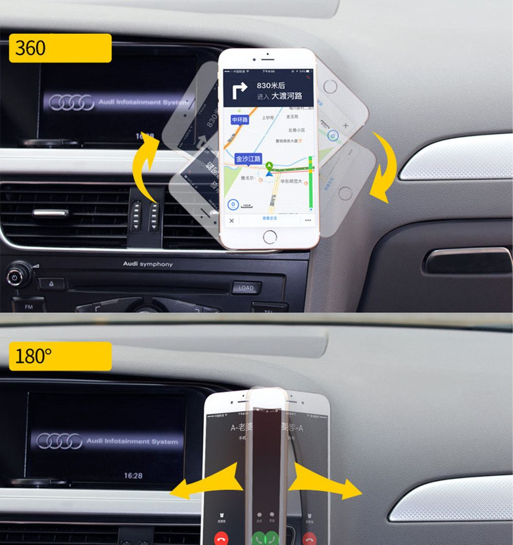 Magnetic Car Mount Phone Holder Adhesive Type