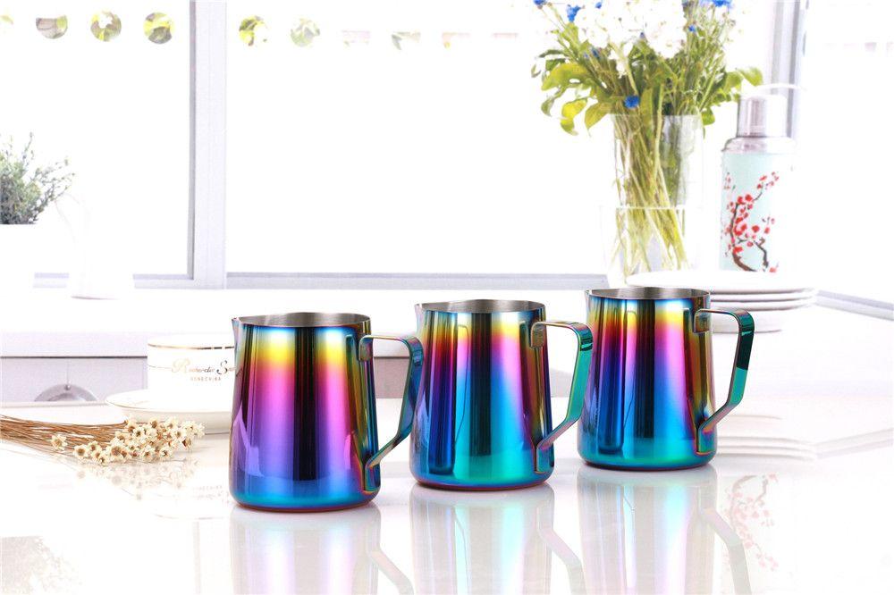 Multicolor Milk Frothing Jug Espresso Coffee Pitcher Barista Craft Coffee Latte Stainless Steel Espresso 600ML