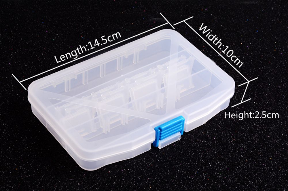 Multifunctional High Strength Plastic Tackle Multi-Compartments Transparent Fishing Box