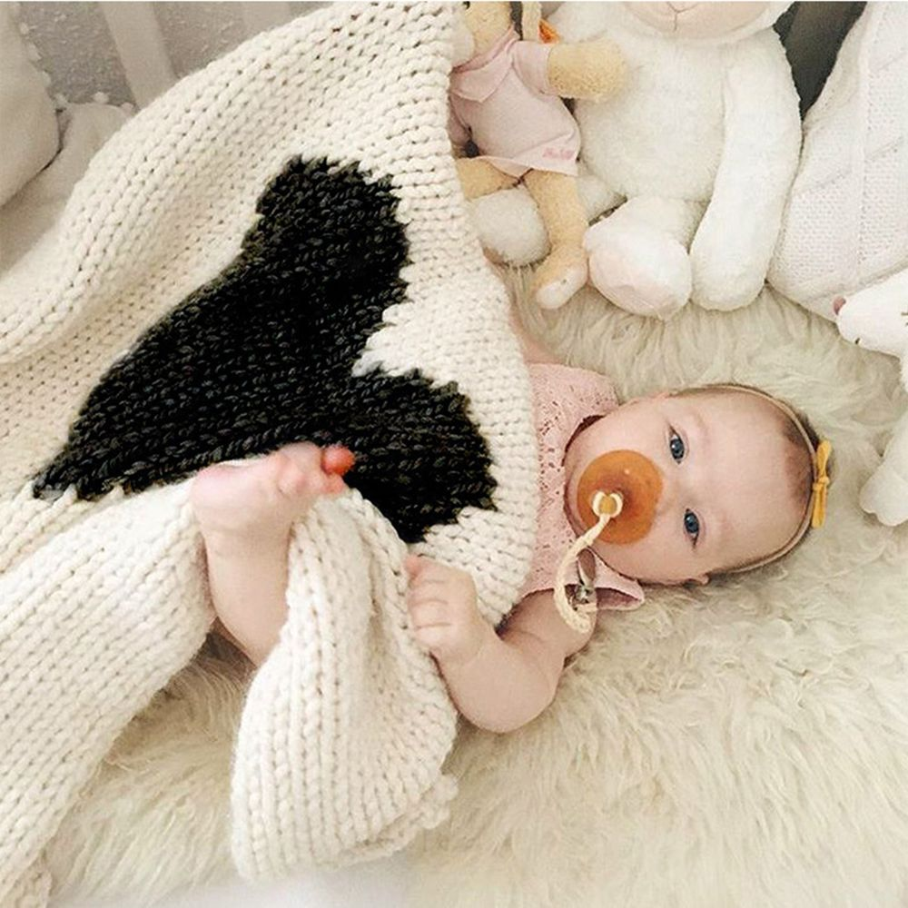 Child Blanketboys and Girls Knitted Blanket Love Wool Quilts
