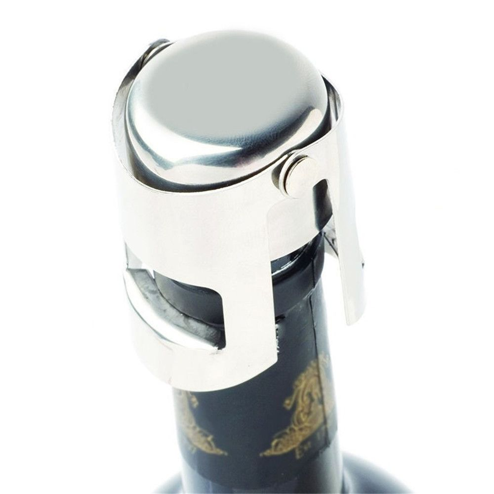 New Hot Stainless Steel Champagne Sparkling Wine Bottle Stopper Sealing Machine Bar Accessories Wine Stopper Accessories