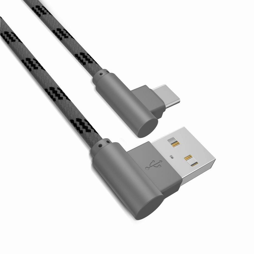 1M Type-C Cable Charge For Samsung S8 Plus Xiaomi 90 Degree  Cable For Oneplus 5t Huawei