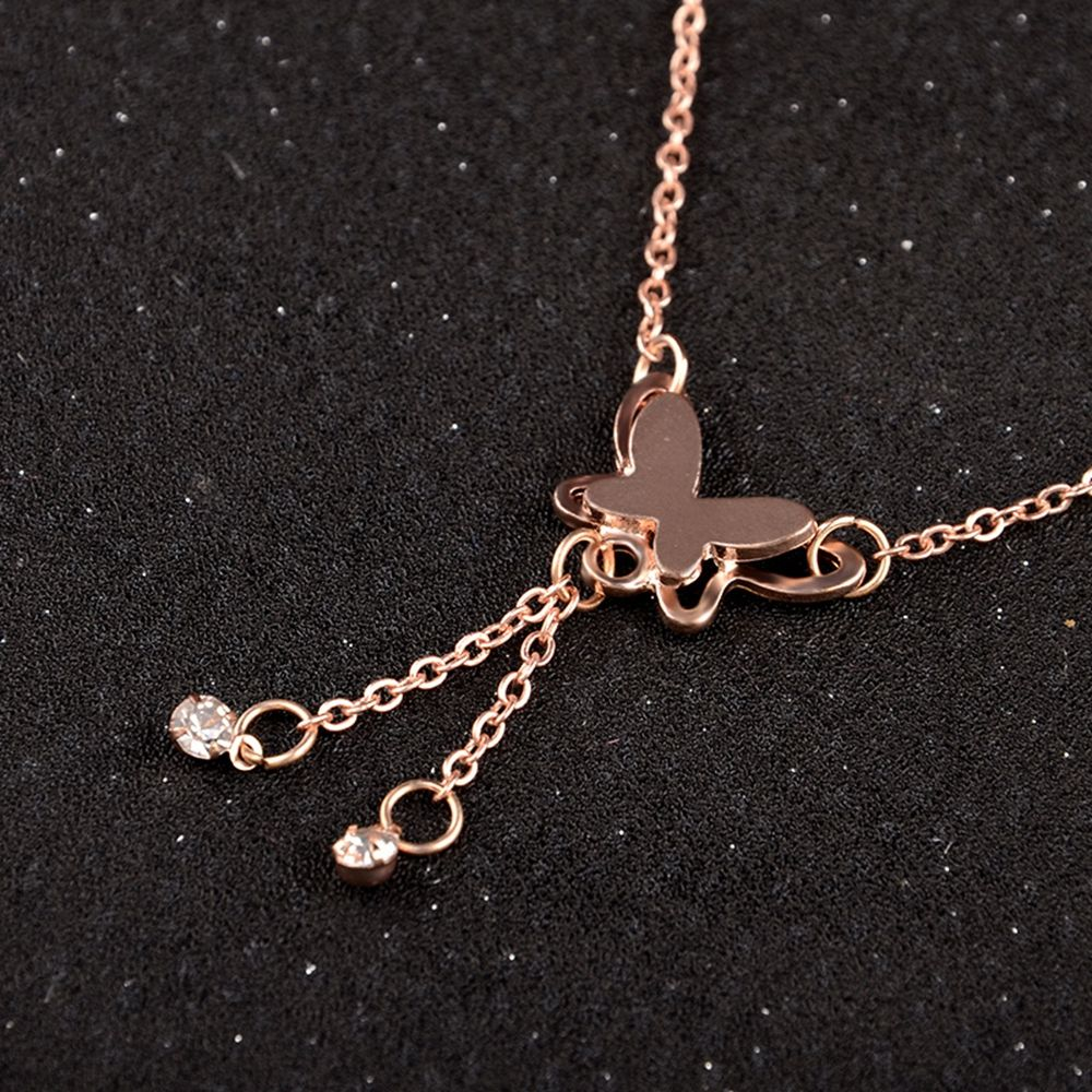 Rose Gold Butterfly Anklet