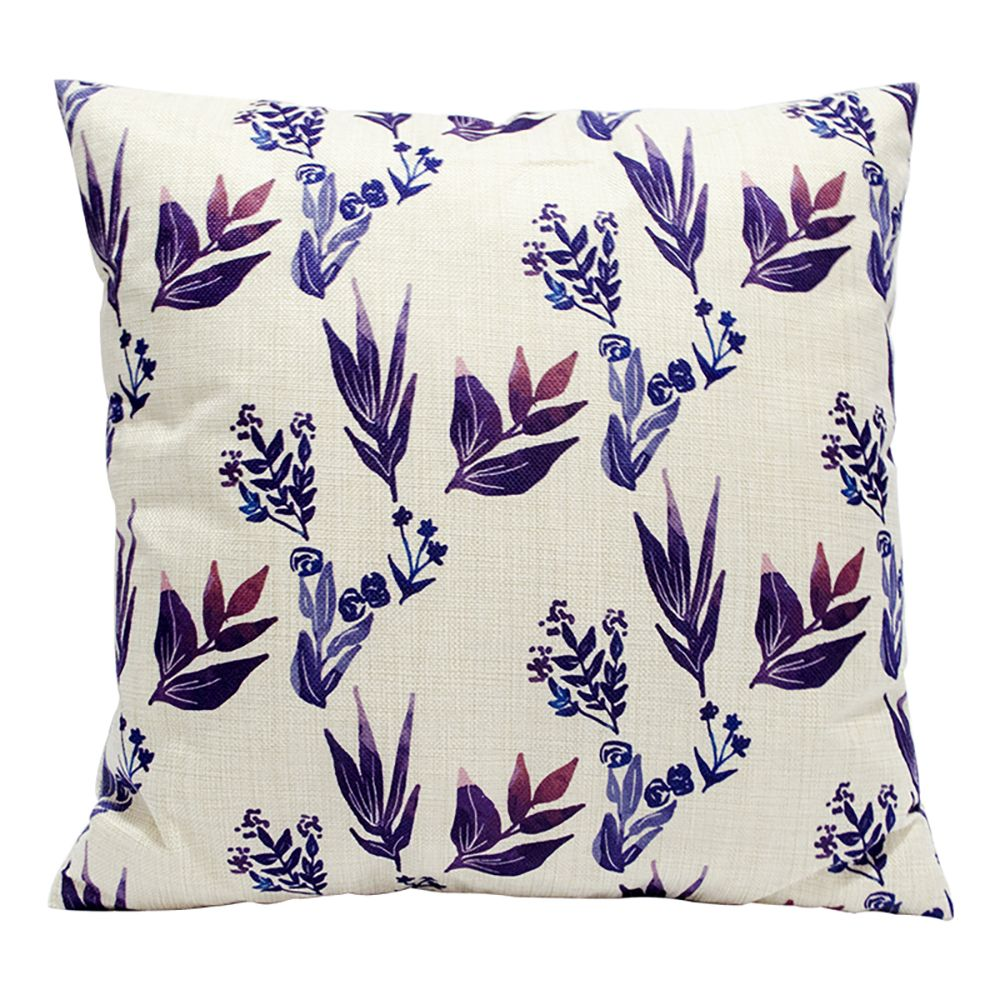 Plant Flowers Pretty Cotton Pillowcase Sofa Car Lumbar Cushion Decorative Office Four Seasons Fabric 18