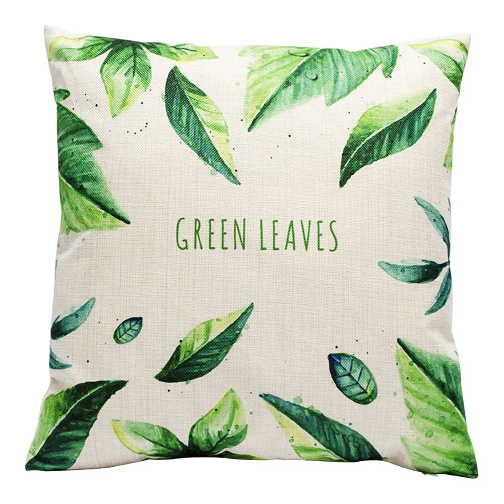 Creative Simplicity Leaves Green Leaf Fashion Cushions Office Pillow Bedside Back Car Waist Cushion Pillowcase