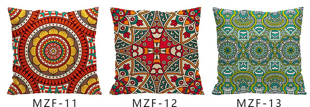 Ethnic Style Pillowcase Cotton and Linen Pillow Office Living Room Cushion Car Decoration