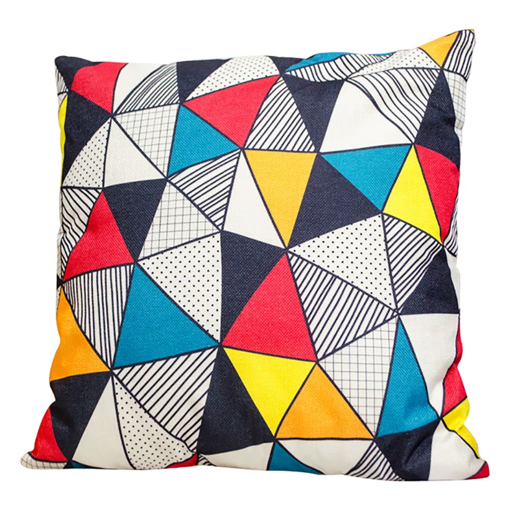 Irregular Geometric Triangle Pillow Cover Car Waist Sofa Sit Cushions Decorative Cloth Office