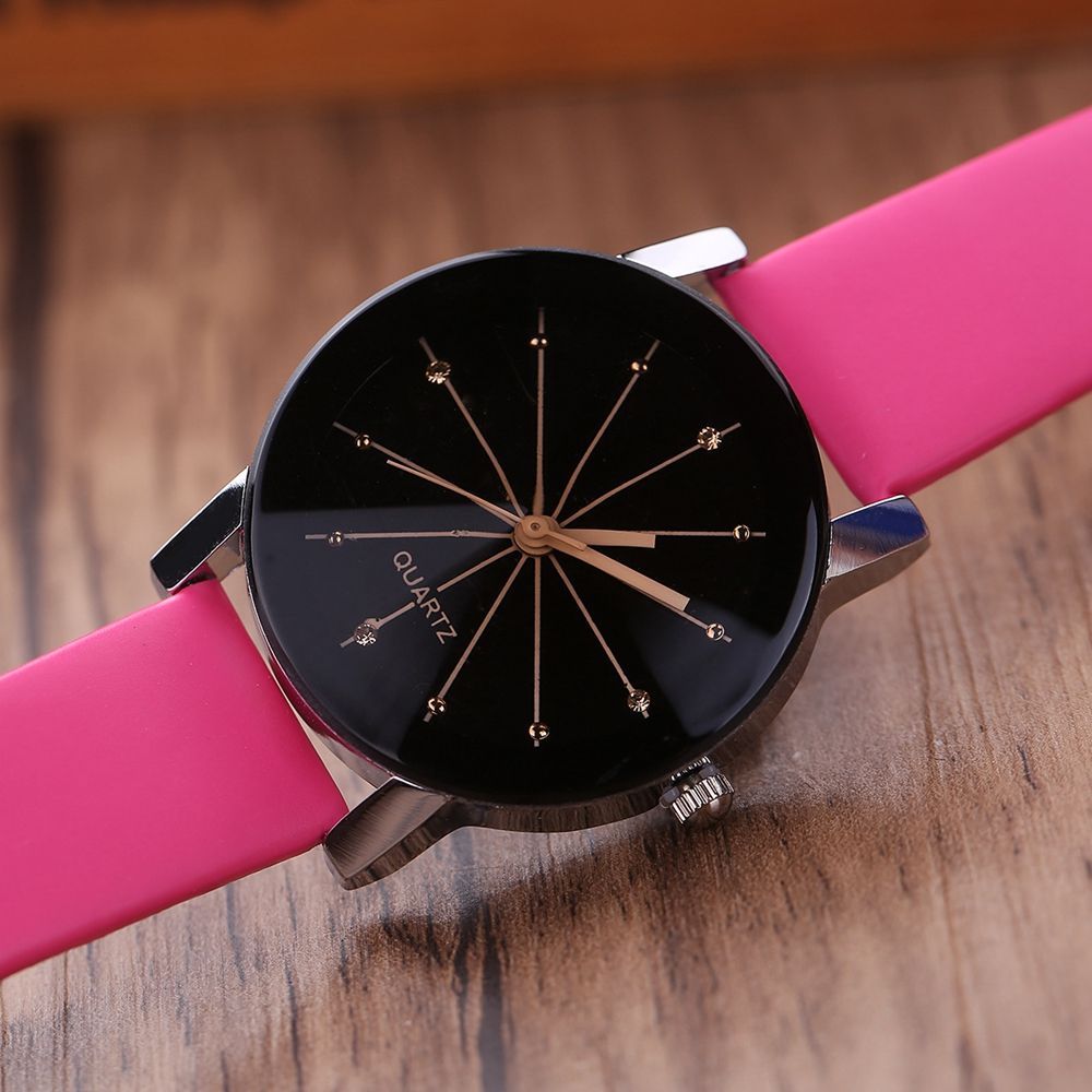 PU Belt Casual Couple Watches