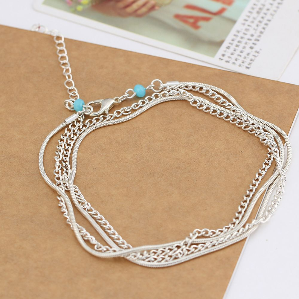 National Wind New Wild Multi-Layered Vintage Anklet