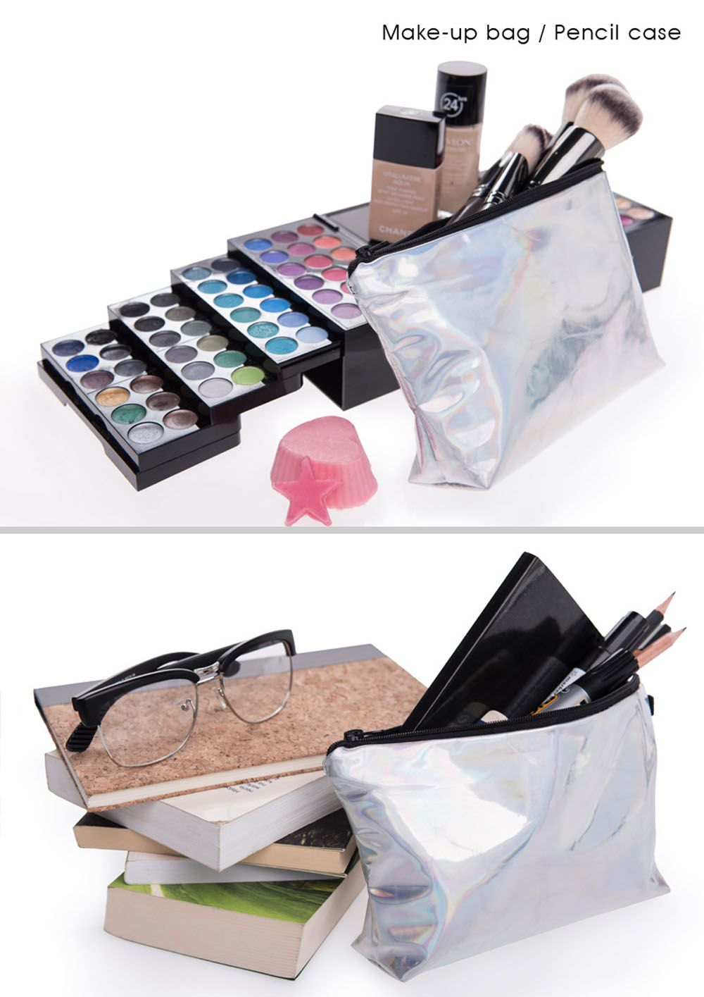 Leather Storage Waterproof Cosmetic Bag