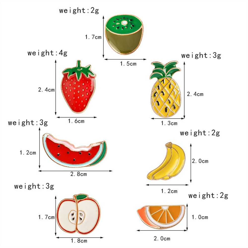 Banana Strawberry Watermelon Kiwi Apple Orange Pineapple Brooch Pins Button Jacket Cowgirl Pin Badge Cartoon Fruit Gift
