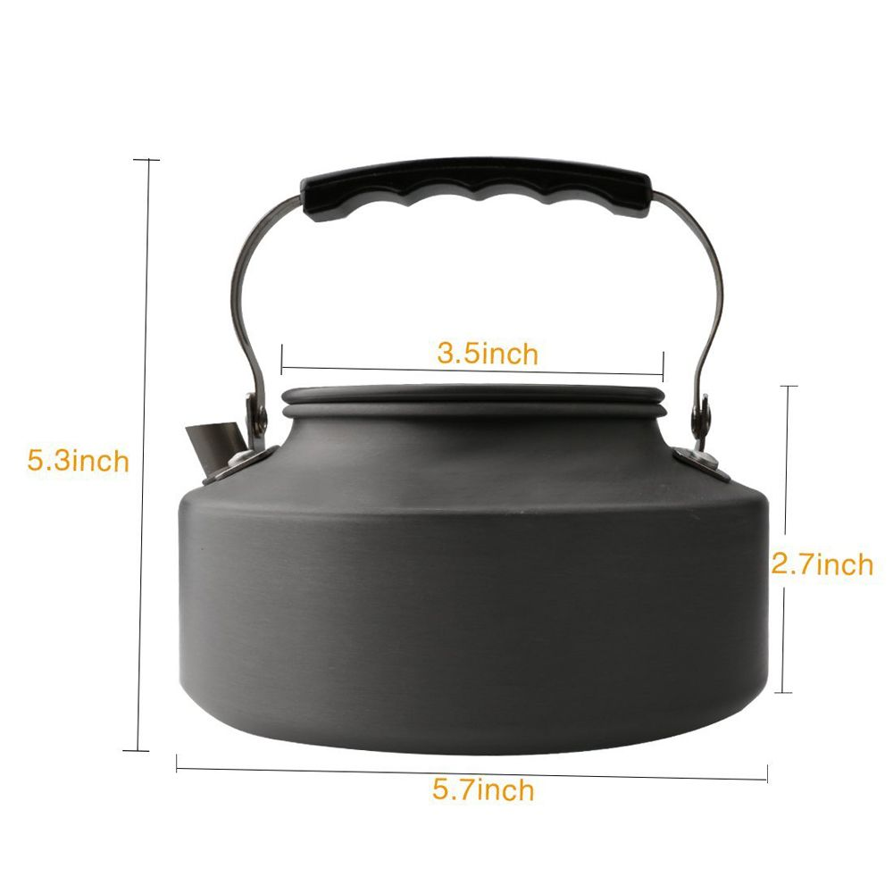Ultralight Aluminum 1.1L Portable  Coffee Teapot Water Kettle for Outdoor Hiking Camping and Picnic