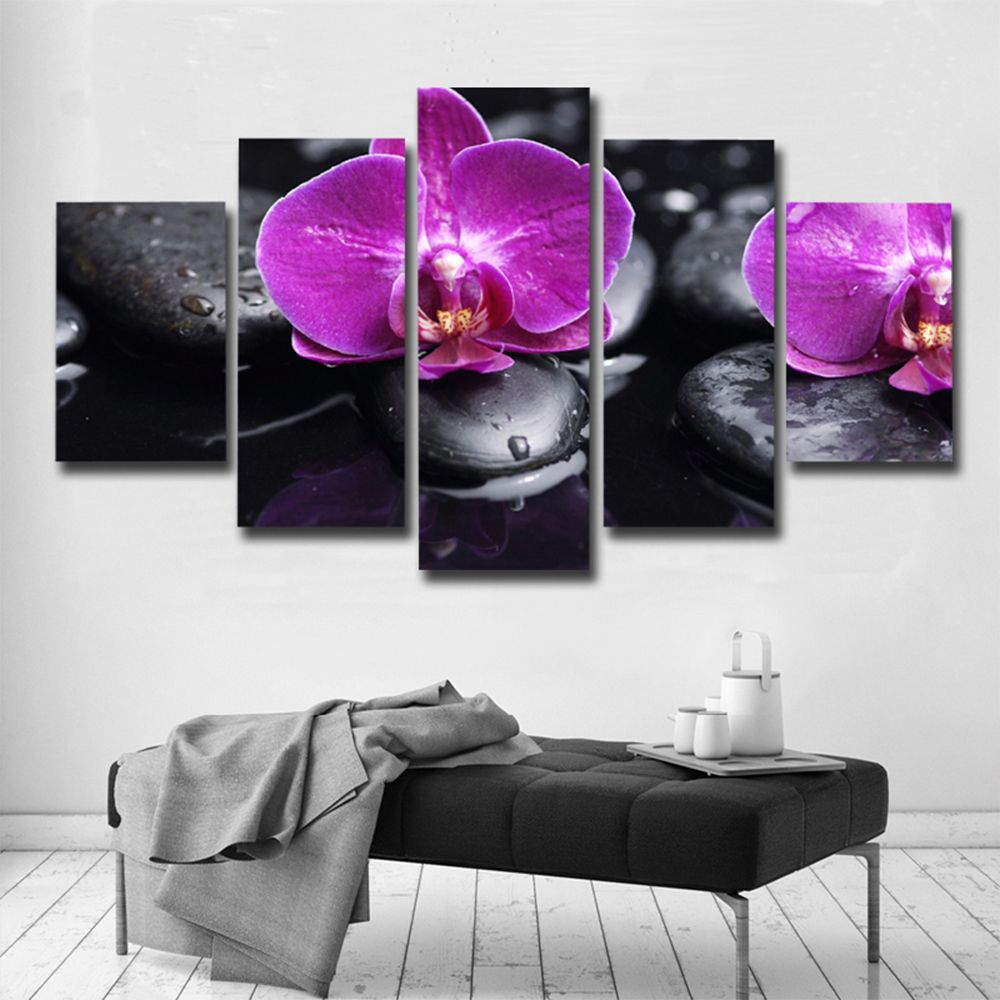 Art Posters And Prints Frames Canvas Flower 5 Pieces