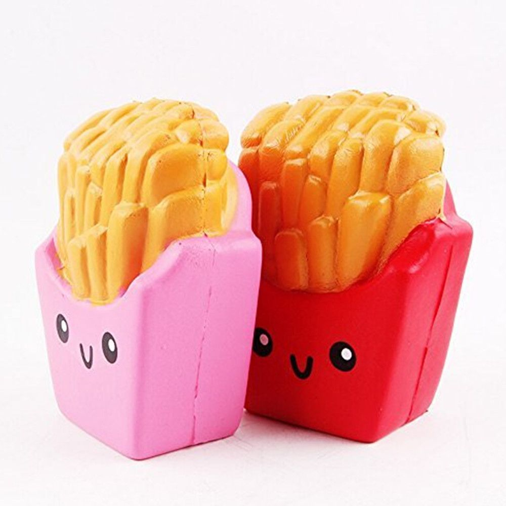 Slow Rising Squishies Jumbo French Fries Scented Squeeze Easter Stress Relief Toy