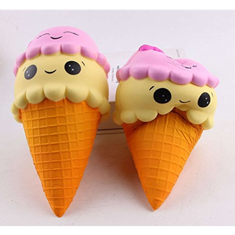 Jumbo Slow Rising Kawaii Cute Squishies Ice Cream Cone Cake Scented of Decompression Toys