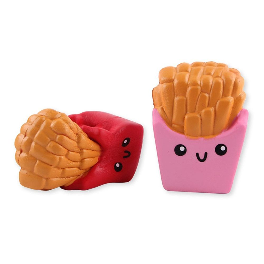 Funny Squishy Toy Made By Enviromental PU Material Replica Chips for Different Age Group