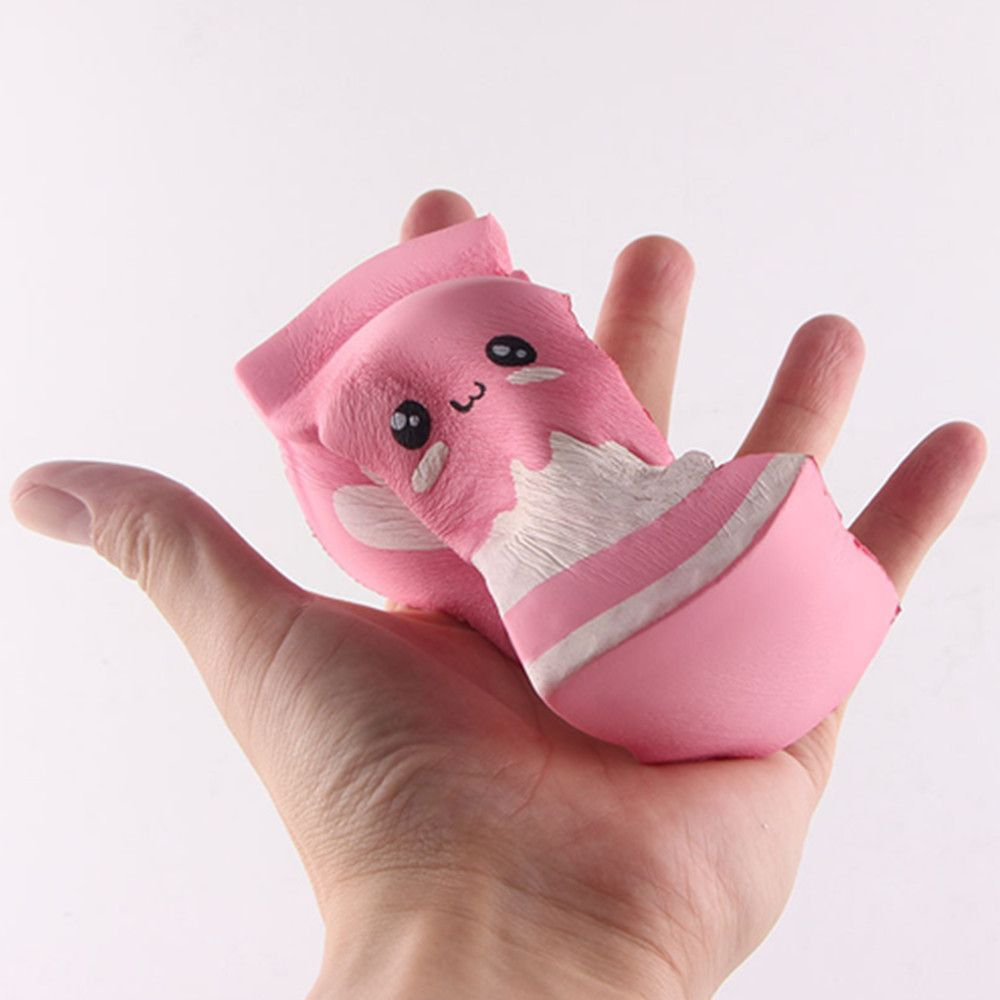 Funny Squishy Toy Made By Enviromental PU Material Replica Swiss Cake Roll for Different Age Group