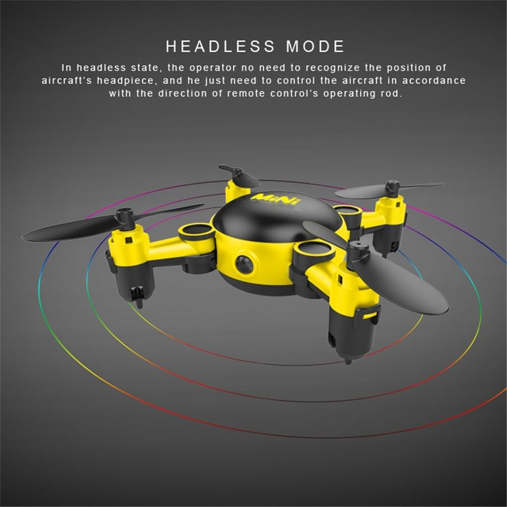 Mini Foldable RC Quadcopter Drone with Camera / 6 Axis Gyro / 360 Degree Roll