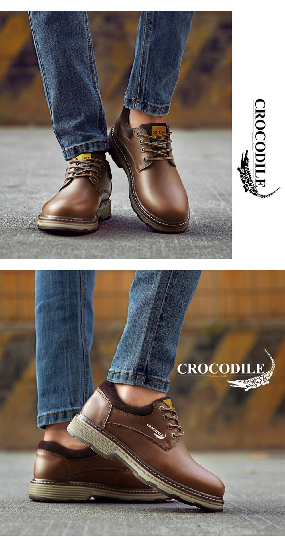 CROCODILE Tooling Loafers Male WFX00372055