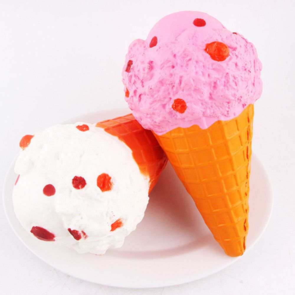 Squishy Cute Ice Cream Cone Squishies Slow Rising Kawaii Cake Scented of Decompression Toys