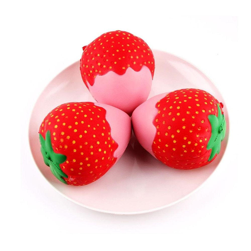 New Squeeze Stretch Squishy Strawberry Fruit Scented Slow Rising Gift Toy for Kids