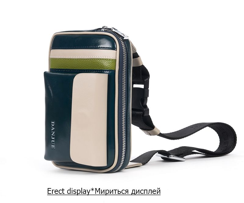 DANJUE Genuine Leather Men Waist Bag Waist Pack Passport Wallet Fanny Pack Money Belt Bag Phone Pouch Shoulder Bum Bag