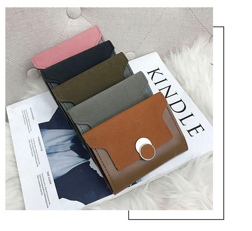 Women'S Purse Long Frosted Multi-Functional Short Wallet Clutch