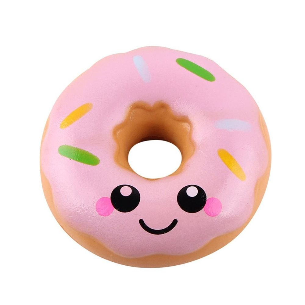 Jumbo Colorful Donuts Soft Squishy Slow Rising Squeeze Kids Toy Gift