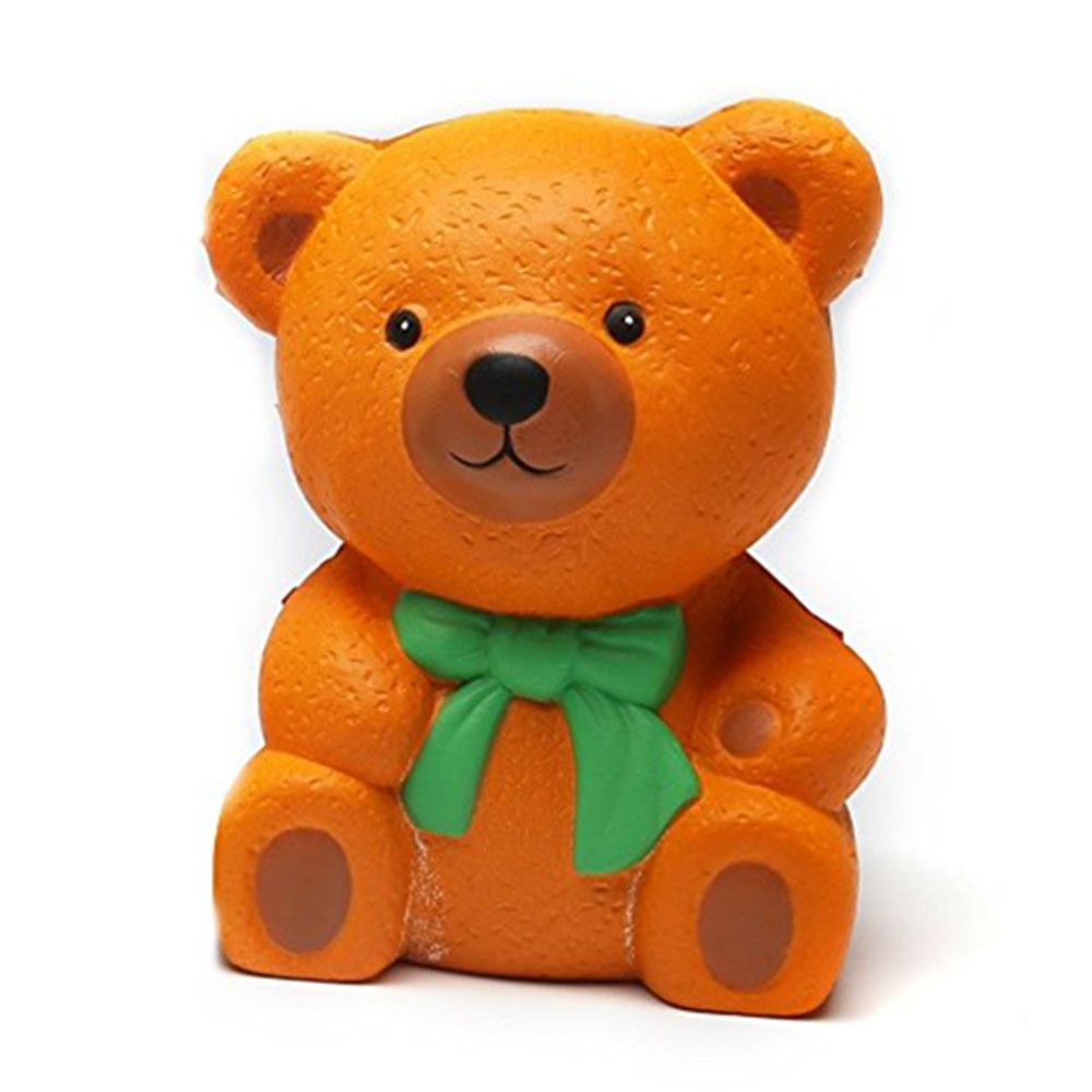 High Quality Squeeze Stretch Squishy Orange Bow Tie Bear Fruit Scented Slow Rising Gift Toy for Kids