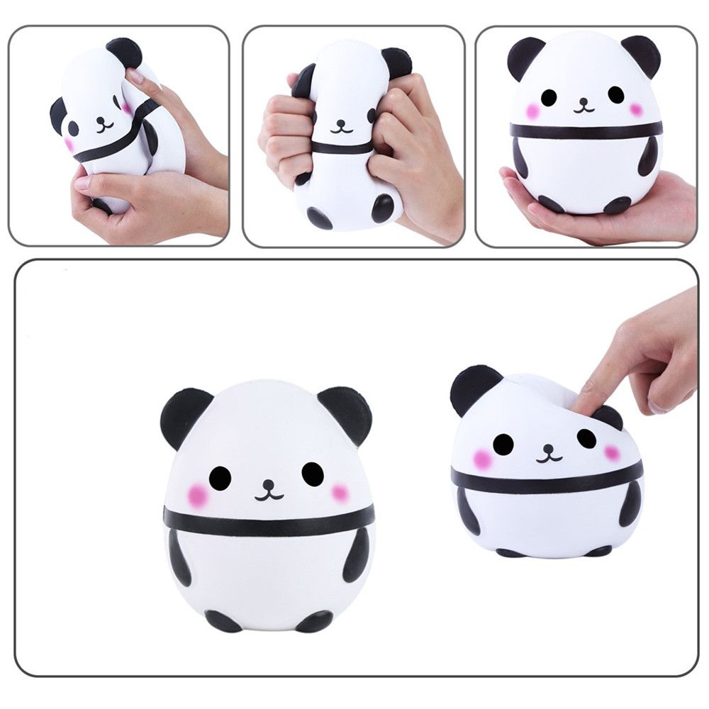 Cute Panda Kawaii Cream Scented Squishies Very Slow Rising Kids Toys Doll Gift Fun Collection Stress Relief Toy